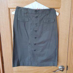 GAP Army Green KHAKIS Button Down Skirt Size 4